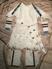 HALLOWEEN COSTUME NATIVE AMERICAN PRINCESS CHILD SIZE 5 6 SILVER CONCHOS BEADS