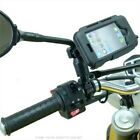 Waterproof Tough Case Motorcycle Moped Scooter Mirror Stem Mount for iPhone 5S
