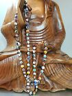 VINTAGE VENETIAN MILLEFIORI HAND BLOWN GLASS BEAD NECKLACE 385 UNCLASPED