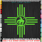 Zia End of the Trail Native American Indian Horse sticker decal