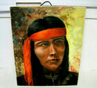 Beautiful Oil on Canvas Native American 16 x 20 Hand Painted Signed Dated 1976