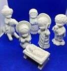 1980 Hallmark Little Gallery MARY HAMILTON White Porcelain NATIVITY 6 Piece Box
