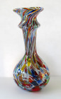 Vintage Vecchia Murano Italy Art Glass Tutti Frutti Vase with Label 8 3 4