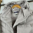 PATAGONIA Downtown Parka Large Womens 800 Duck Down Filled Gray Hooded Coat 379
