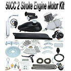 Sliver 50cc 2 Stroke Motor Engine Kit Gas for Motorized Bicycle Bike 38km hour