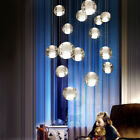 Modern Crystal Chandelier Glass Bubble Ball Pendant Hanging Light Fixtures