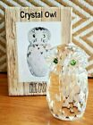NEW Oleg Cassini Crystal Owl 3927 Paperweight Figurine Signed NIB