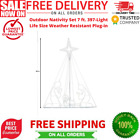 Outdoor Nativity Set 7 Ft 397 Light Life Size Weather Resistant Plug In