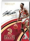 DOMINIQUE WILKINS 2016 PANINI IMMACULATE AUTO AUTOGRAPH ALL GREATS CARD #26 35!