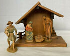 Anri 3Kuolt 3 pc Creche Nativity with Stable New Mint Condition