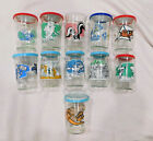 Looney Tunes Jelly Jars Welchs Tom and Jerry Lot of 11 Rare Pepe Le Pew Glass