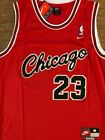 #23 Michael Jordan Chicago Bulls RED 1984 Rookie Sewn Men's Jersey