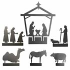 Nativity Set for Christmas Indoor Scene Cut Metal Six Pieces