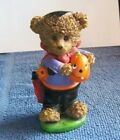 Halloween Vampire Trick or Treater Teddy Bear Pumpkin Resin Figure Boyd's Bear ?