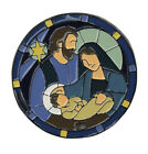 Origami Owl LARGE STAINED GLASS CHRISTMAS NATIVITY WINDOW For Living Locket NEW