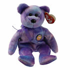TY Beanie Baby - CLUBBY 4 the Bear (Rainbow Button) (8.5 inch) - MWMTs