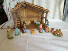 Vintage chalkware nativity set w light up manger Italy 1940s 50s