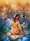 Native Beauty Woman Wolves Diamond Painting Kids Adults Full Square Drill 5D DIY