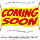 Coming Soon Custom Banner Sign Multiple Sizes Yellow Red
