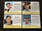 ⚾️⚾️ 1963 Post Cereal Baseball Card Lot Of 4 Whitey Ford New York Yankees ⚾️⚾️