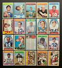 1972 Topps Football Cards 16