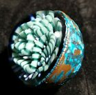 Contemporary Art Glass Marble Electroformed Cane Work Borosilicate Glass Marble