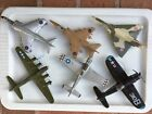 6 VINTAGE Diecast military airplanes Corsair B17 P 51 Harrier Jaguar Mirage