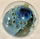Josh Simpson Paperweight Art Glass Inhabited Planet SIGNED NUMBERED 3W