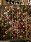 Pottery Barn Mercury Glass Garland Red Green Gold Silver 5 Garland New in Box