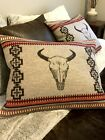 WOOL TRIBAL PILLOW COVER W GENUINE PENDLETON WOOL ICONIC AMERICAN WEST NATIVE