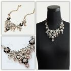 JCrew NIGHT FLOWER CRYSTAL STATEMENT NECKLACE Sold OutNWT 138