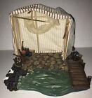 FONTANINI ITALY 5 RETIRED FISH MARKET NATIVITY VILLAGE Water 55514 AS IS