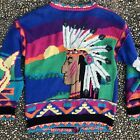 Vintage Native American Indian Headdress Ugly Christmas Sweater Holy Grail L