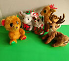 5 TY CHRISTMAS Beanies : Mice- Tiny Tim, Chipper; Reindeer- Roxie, Tinsel; Bella