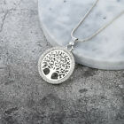 Life tree crystal hollow pendant necklace round card jewelry