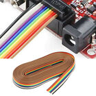 2 Rolls 10 Rainbow Cable Flat Flexible Ribbon Jumper Cable Idc Rainbow Cable For
