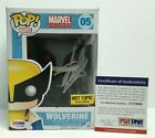 Stan Lee Signed Hot Topic Exclusive Marvel Universe Wolverine Funko POP #05 PSA