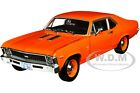1970 CHEVROLET NOVA SS 396 HUGGER ORANGE 1 18 DIECAST MODEL BY AUTOWORLD AMM1226