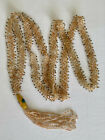Vintage Art Deco Glass Beaded Flapper Necklace with Seed Beads and Large Bead