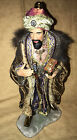 Members Mark Nativity 2006 Replacement Wiseman King Figurine Ceramic Fabric 14