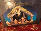 Fontanini Heirloom Nativity Set Including the Stable and 11 Piece 5 Figurines