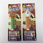 Halloween Happy Pumpkin & Ghost PEZ Candy Dispenser Collectible Lot of 2 Sealed