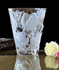 Signed LALIQUE Ispahan Rose Crystal Vase Mint Condition  STUNNING
