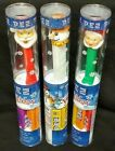 PEZ Holiday Christmas Santa + Mrs. Claus + Frosty Candy & dispenser set NEW TUBE