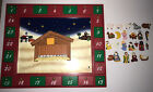 Kurt S Adler Nativity Advent Calendar Magnetic Holiday Non working Light Voice