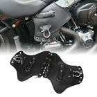 Motorcycle Black PU Leather Heat Saddle Shield Deflectors For Harley Touring US