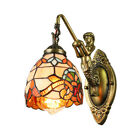 Victorian Wall Sconce Art Glass Single Light Porch Bedside with Mermaid Lamp Arm