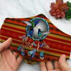 Native American Hummingbird Dreamcatcher Face Mask Holiday Mask Three layer