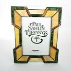 Geometric Paul Sahlin Tiffany Stained Glass Picture Frame 5 x 7