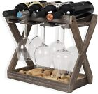 Solid Wood Wine and Glass Rack Cork Storage Tray Table Top